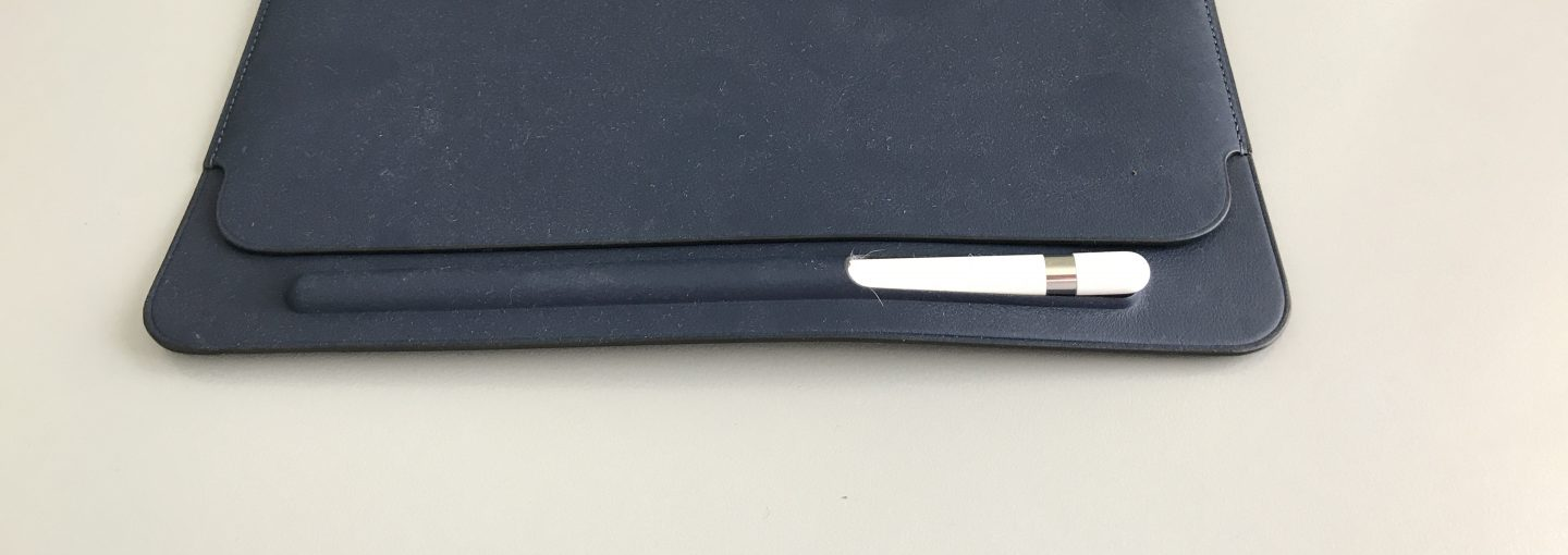 Leather Sleeve showing the Apple Pencil slot